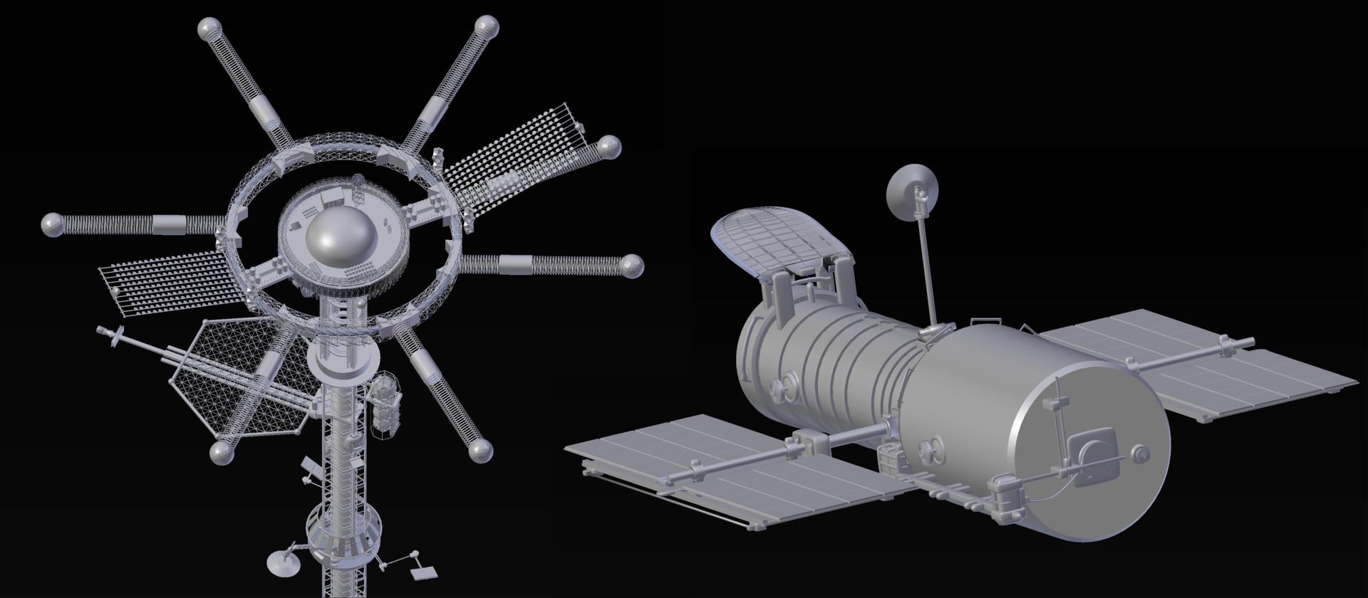 ArtStation - Space elevator cinematic animation (Blender