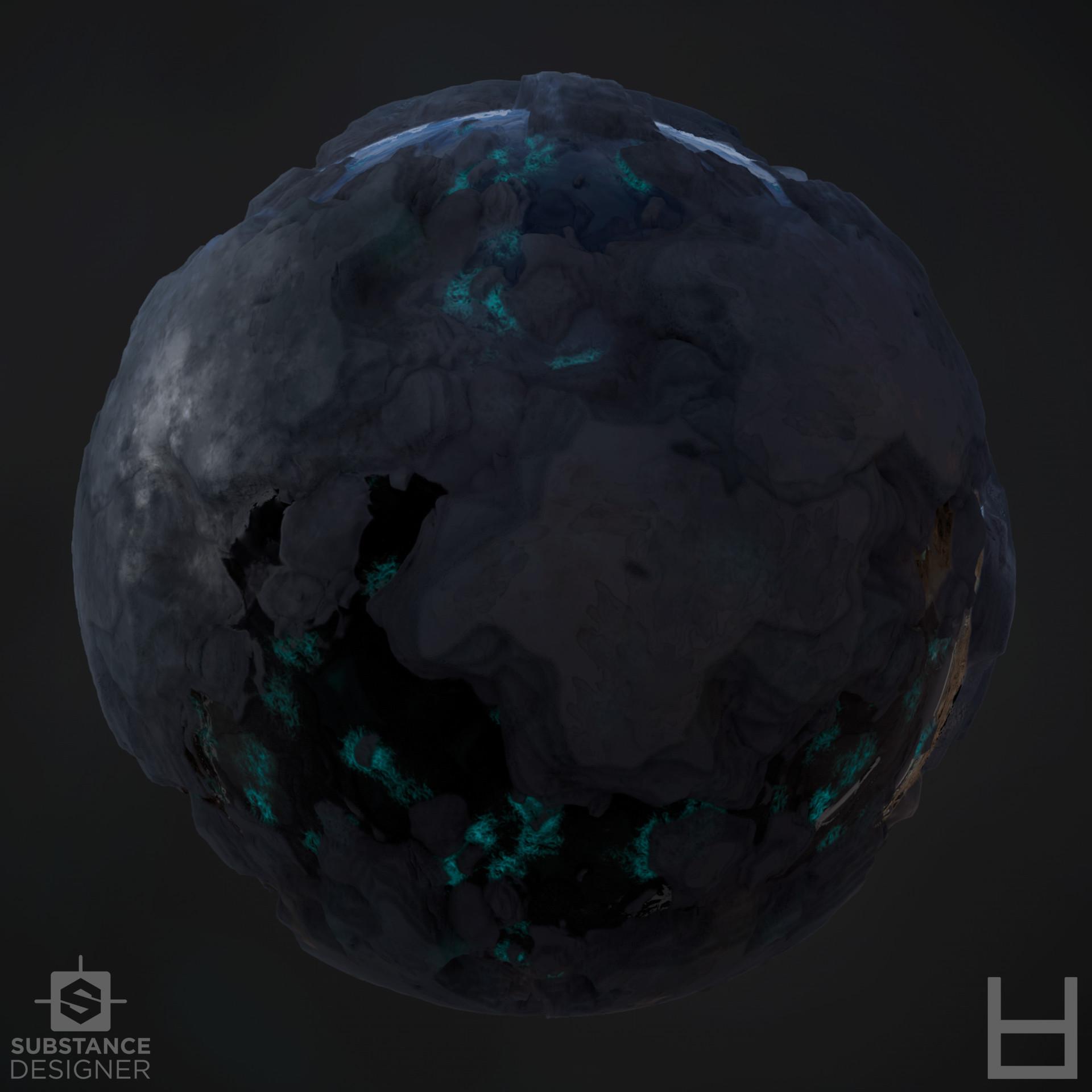 ArtStation - Alien Water Rock PBR Texture - Ilas (Water Planet