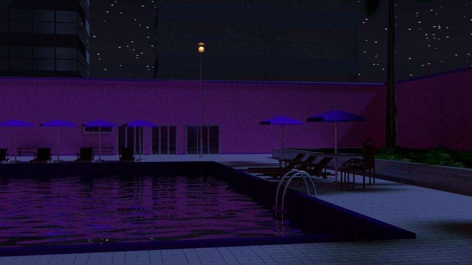 Pool 8 - Night
