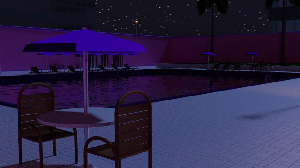Pool 9 - Night
