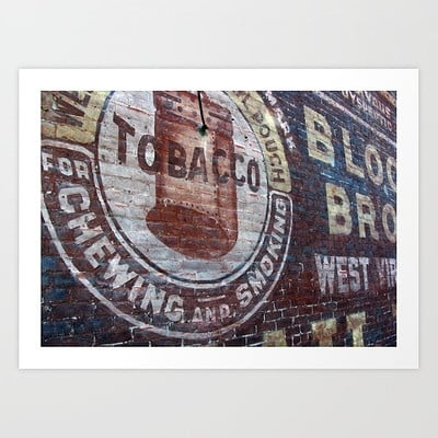 Steve rampton west virginia tobacco prints