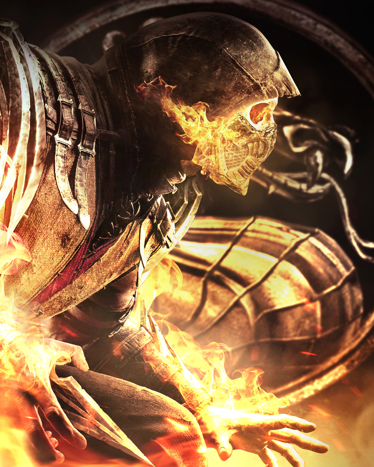 cool mortal kombat scorpion art
