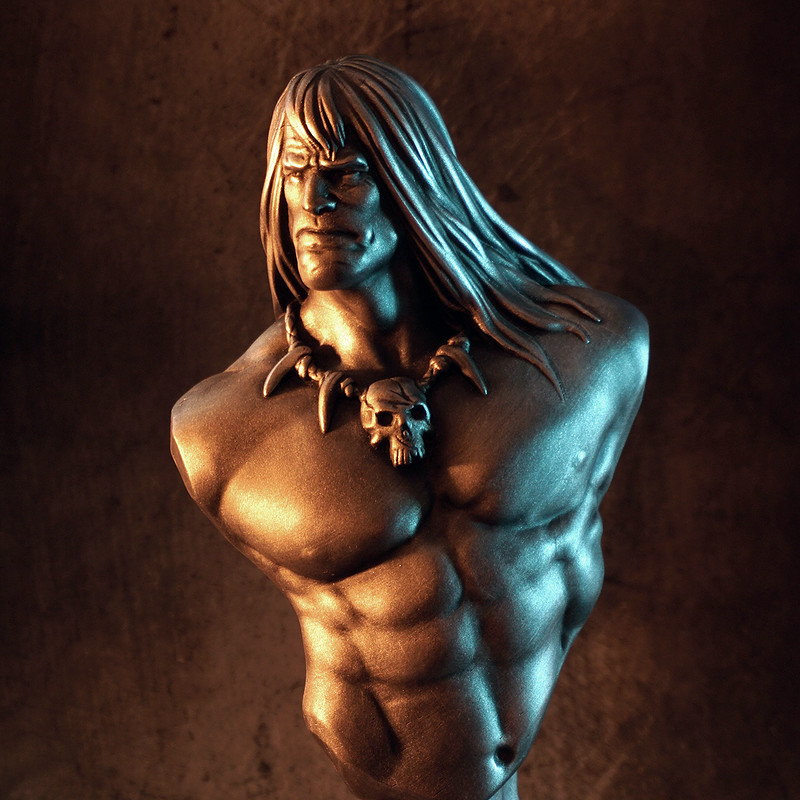 Conan the Barbarian bust (3D printed)