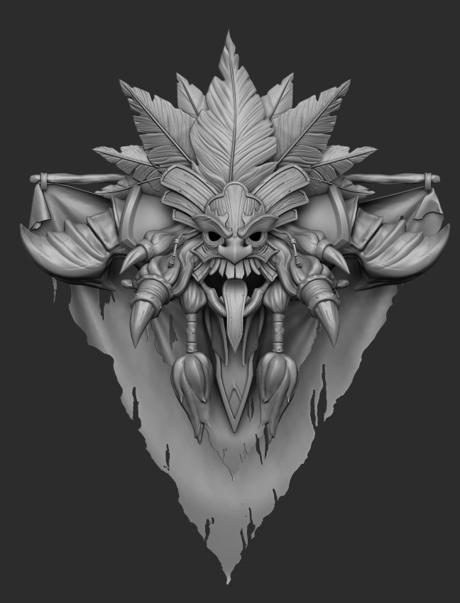 High poly fresh out of Zbrush