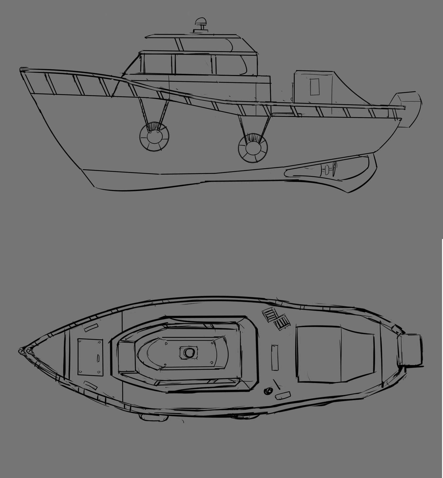 Concept for the boat