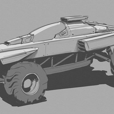 Giacomo tappainer dune buggy sketch 01