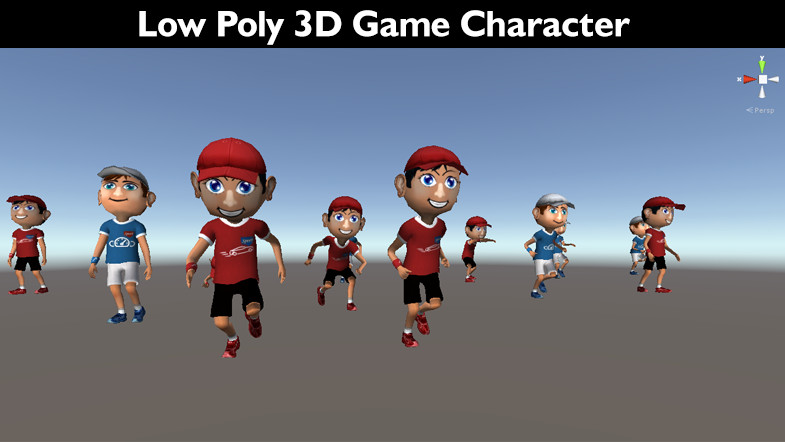 ArtStation - Low poly 3D game character 1, srikanth chandanala