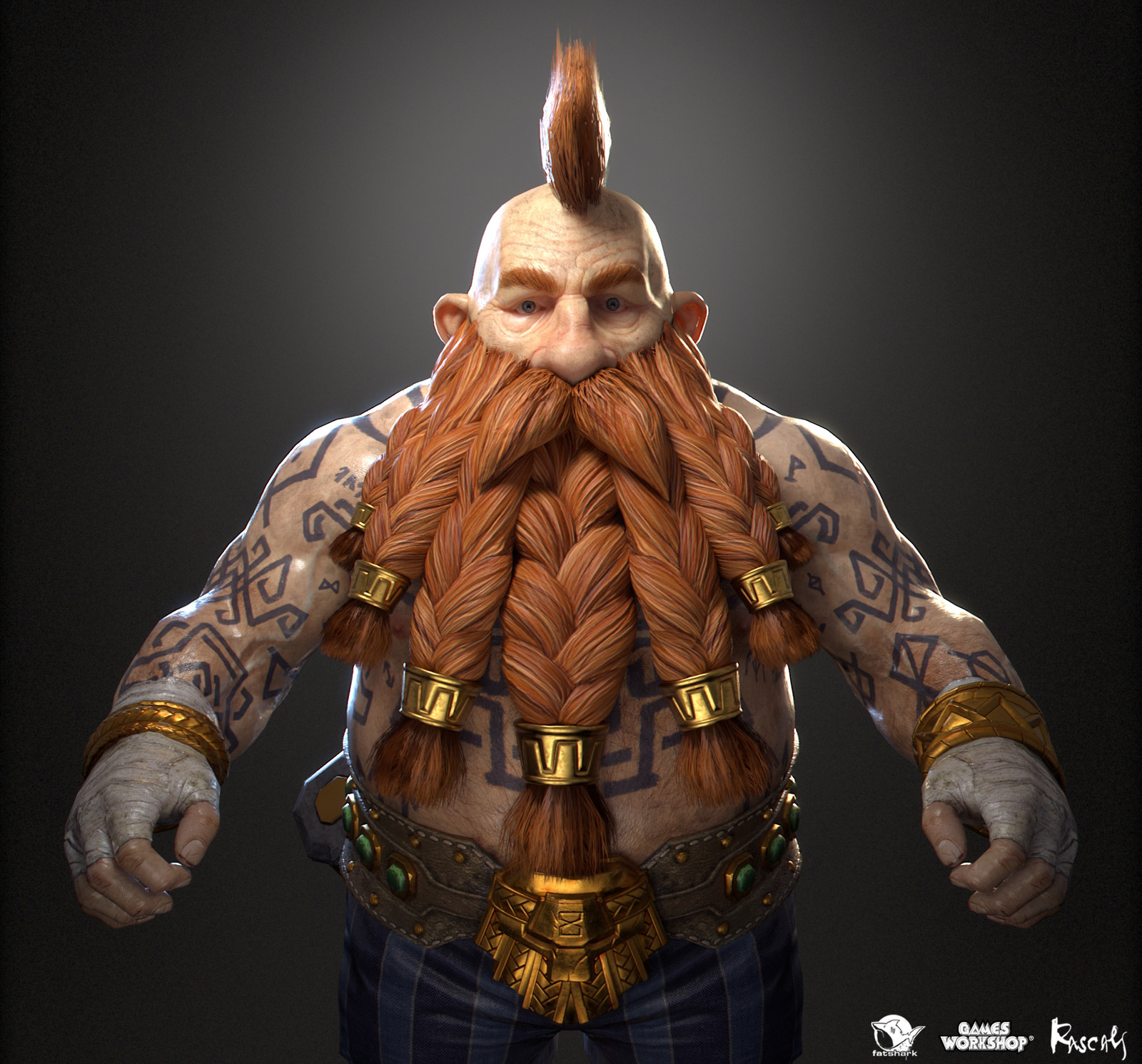Bardin Goreksson: Slayer is one of the playable hero variants Rascals made for Warhammer: Vermintide II, Fatshark's award-winning co-op meelee action published by Games Workshop.