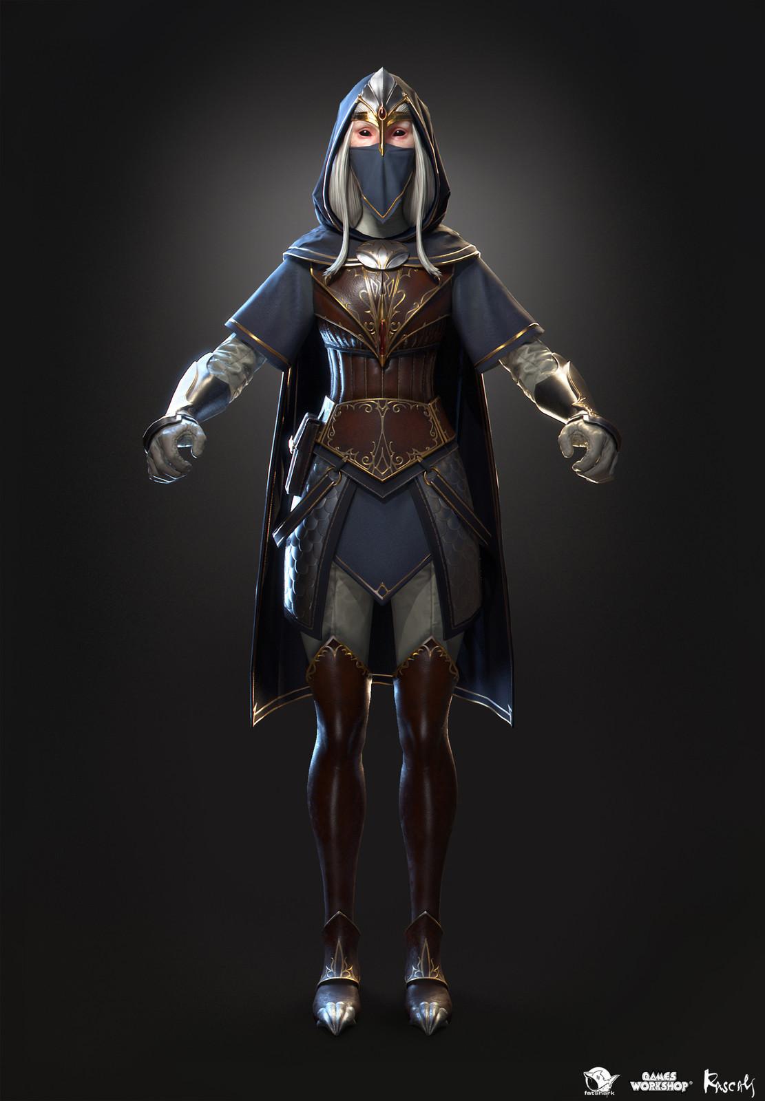 Kerillian: Handmaiden is one of the playable hero variants Rascals made for Warhammer: Vermintide II, Fatshark's award-winning co-op meelee action published by Games Workshop.
