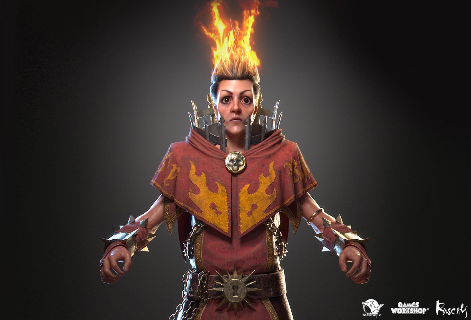 Sienna Fuegonasus: Battle Wizard is one of the playable hero variants Rascals made for Warhammer: Vermintide II, Fatshark's award-winning co-op meelee action published by Games Workshop.
