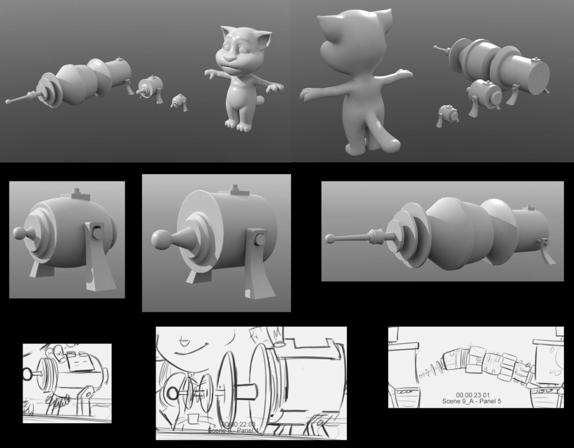 Storyboard and Tom model provided by Hampa Studio