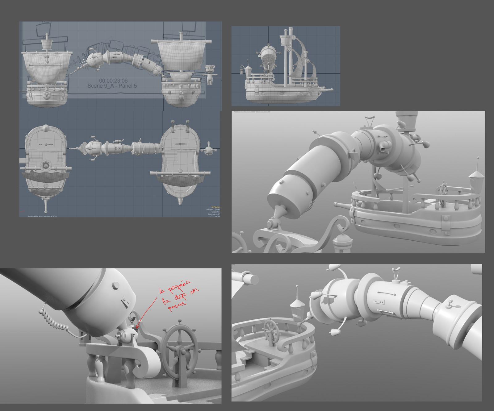 Storyboard, Tom and ships models provided by Hampa Studio