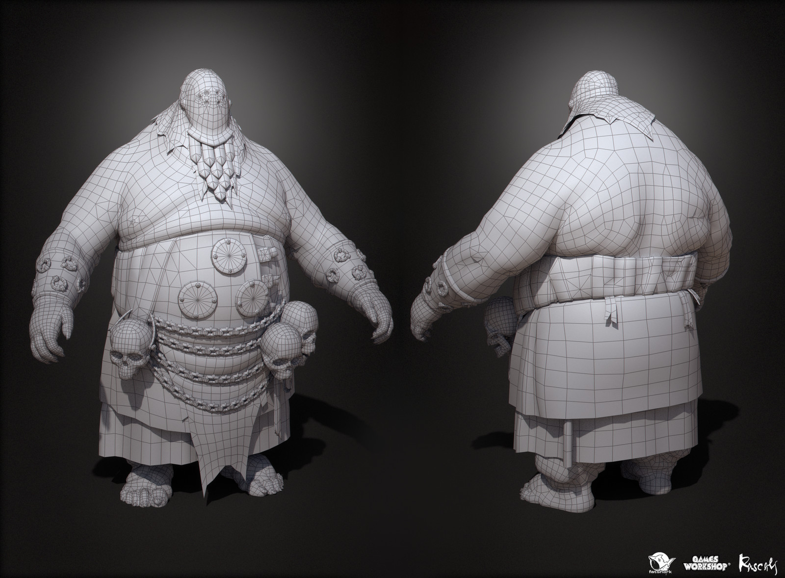 The final model has 21K polys and uses 4K PBR textures