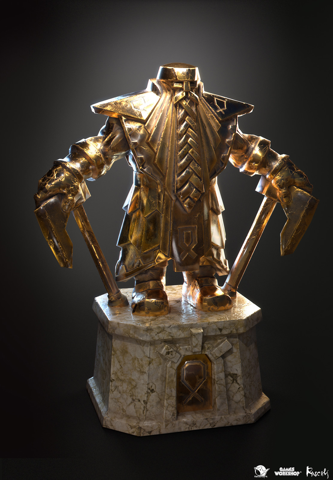 Rascals contributed to Fatshark's award-winning meelee action with a range of statues.