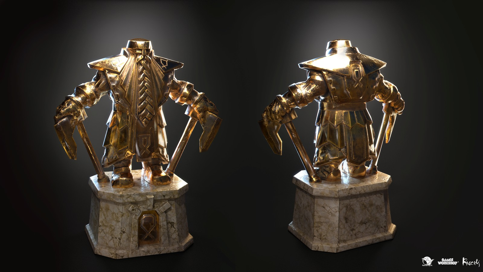 As with other assets from the game, the statues have PBR materials and comprise of 10K polys in average.