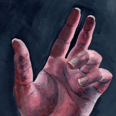 Andrea lacy gouache hand 1