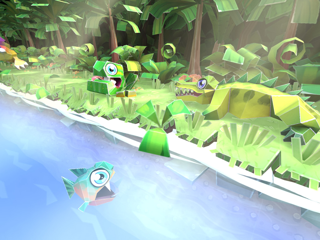 Froggy, croc and piranha
