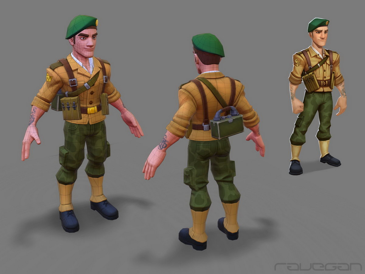 Ravegan games how greenberet lowpoly small
