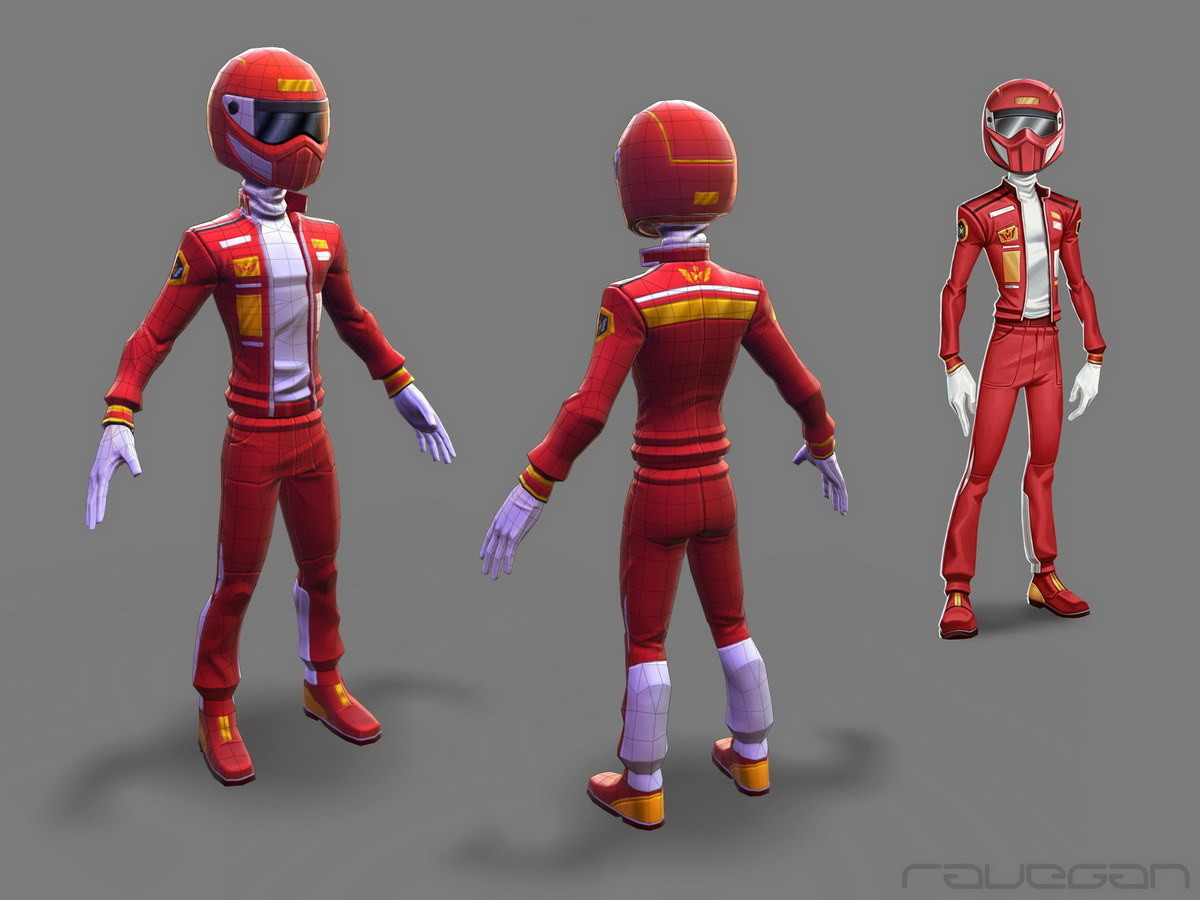 Ravegan games how f1driver lowpoly small