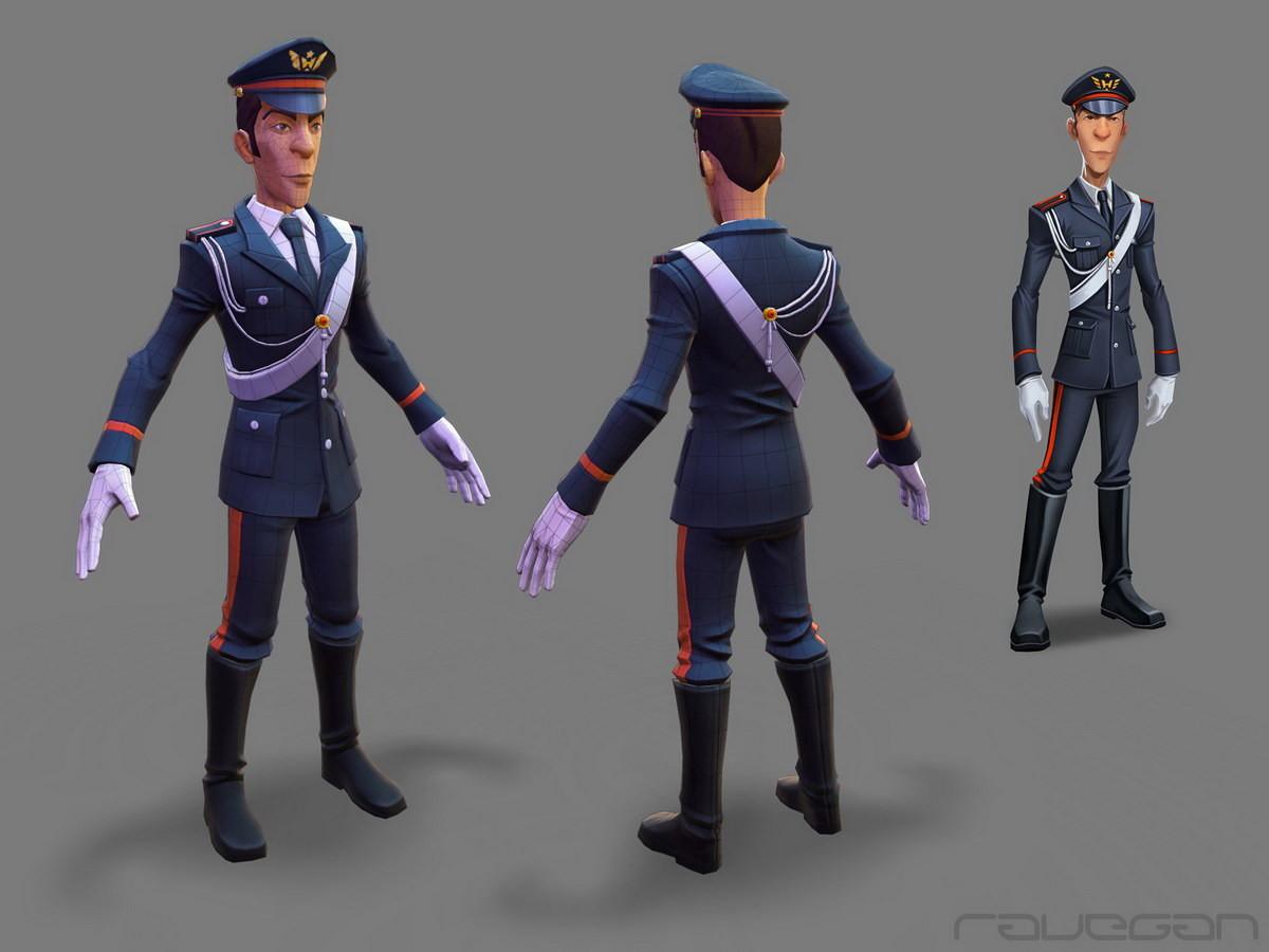 Ravegan games how carabinieri lowpoly small
