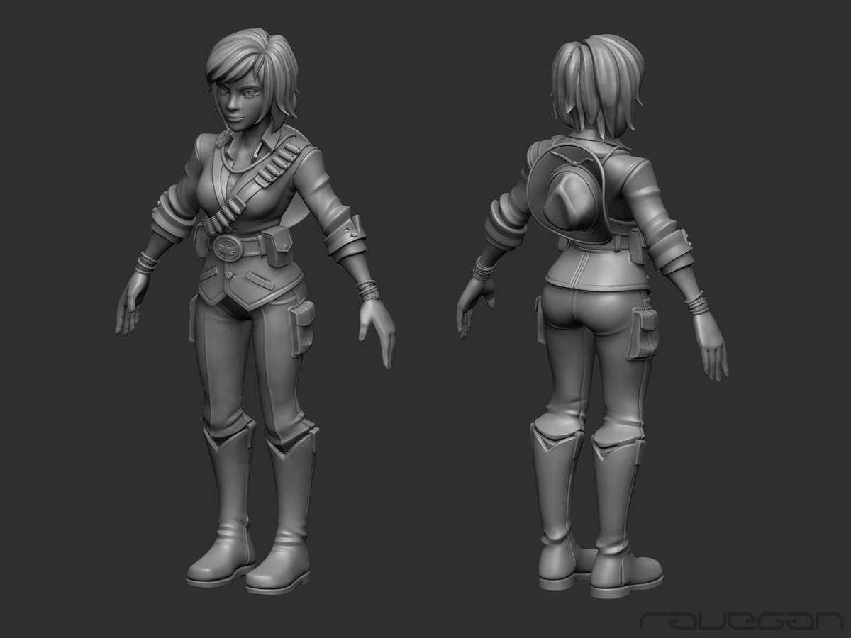 Ravegan games how cowgirl highpoly small