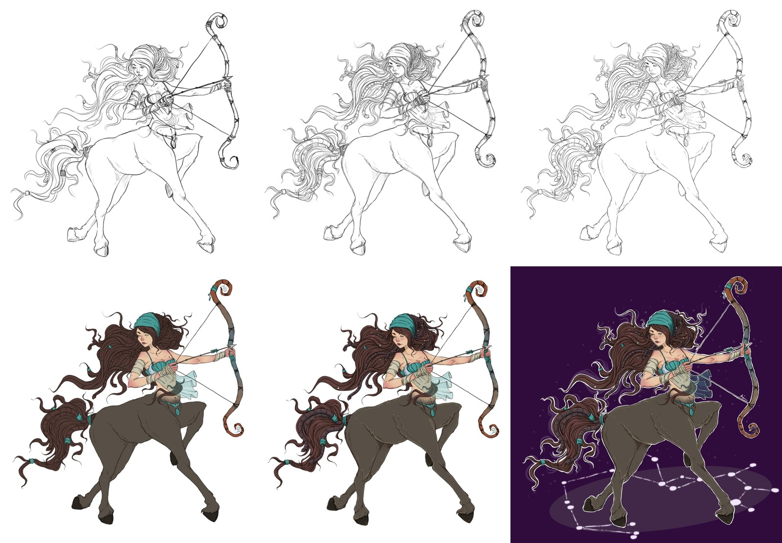 Sagittarius - Step by Step creation process (guide)