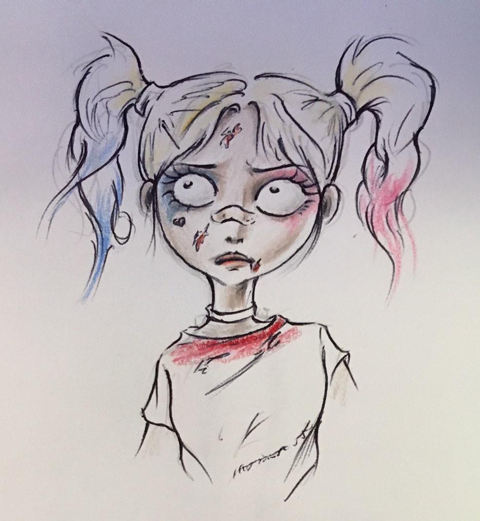 Original concept sketch by my student, Meiithien