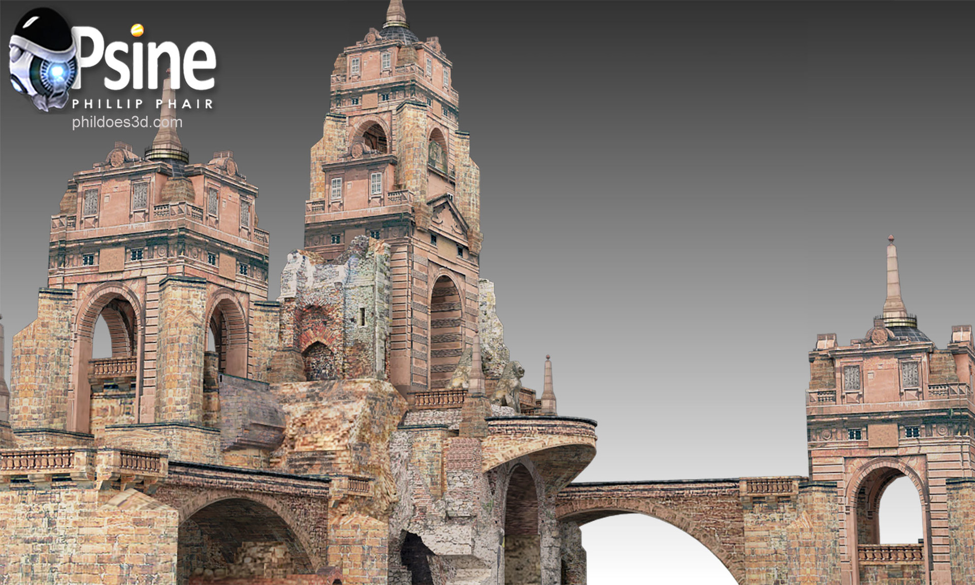 Temple Ruin Model