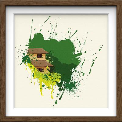 Rajesh r sawant brown frame square splatter house 3