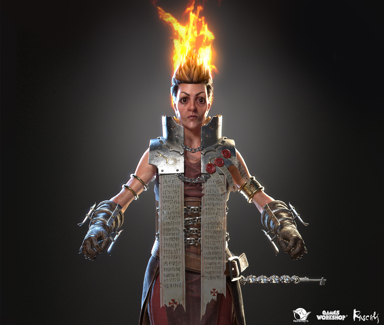 Sienna Fuegonasus: Pyromancer is one of the playable hero variants Rascals made for Warhammer: Vermintide II, Fatshark's award-winning co-op meelee action published by Games Workshop.