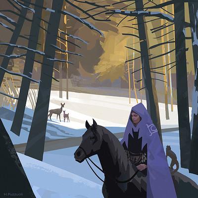 Hugo puzzuoli horse snow hpuzzuoli small