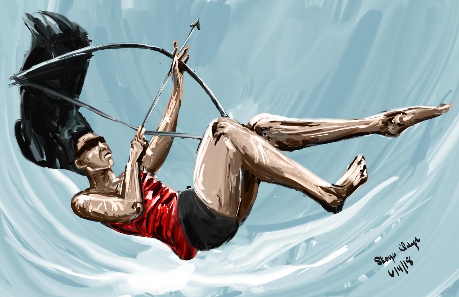 Archer in Water