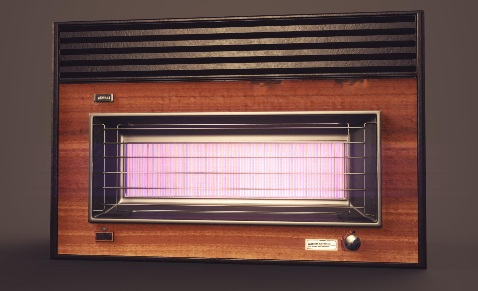 Rinnai RCE-318H Natural Gas Fan Heater.