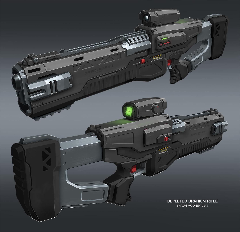 ArtStation - depleted uranium rifle, Andrej Zarol