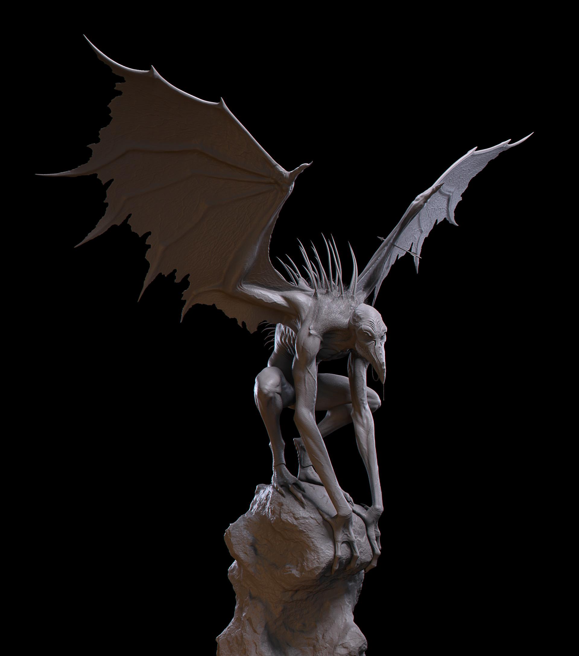 Alec hunstx creaturemod alechunstx harpyfinal clay