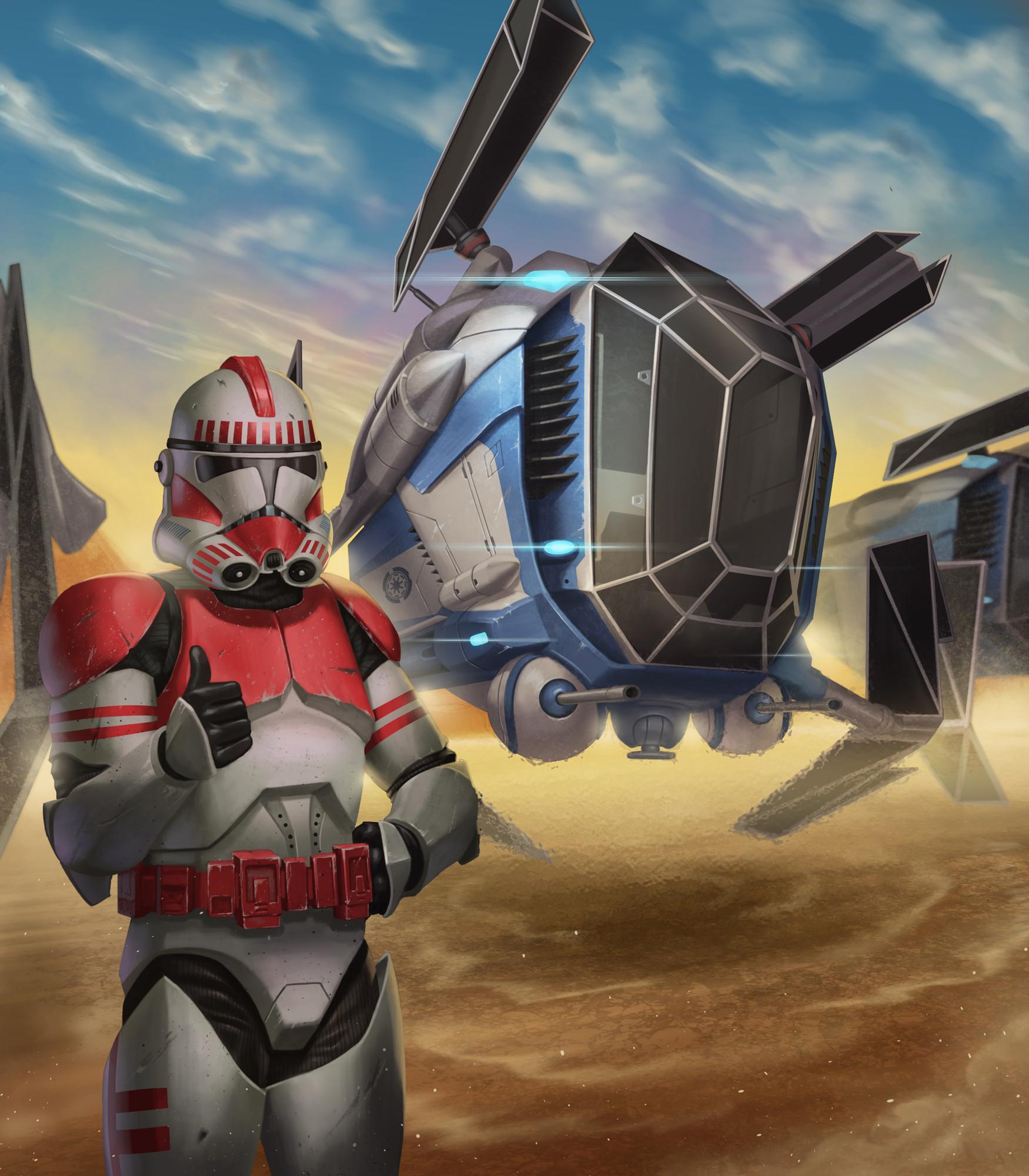 Brian Fajardo Police Gunship Star Wars Scum And Villainy
