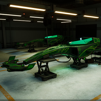 Futuristic Racing Vehicle