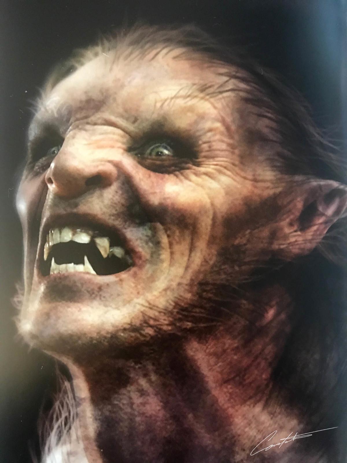 werewolf makeup design