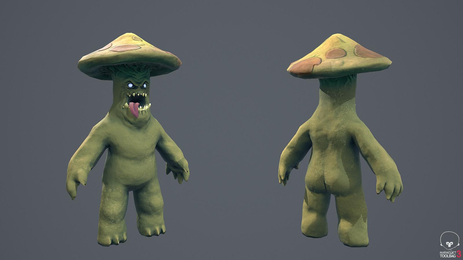 Mushroom Man: front & back
