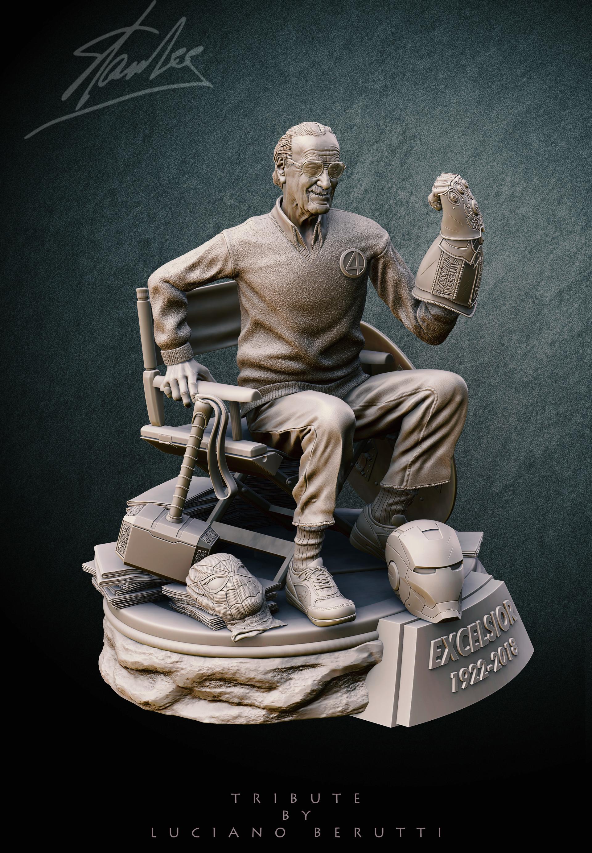 Luciano Berutti Tribute For Stan Lee Collectible Statue
