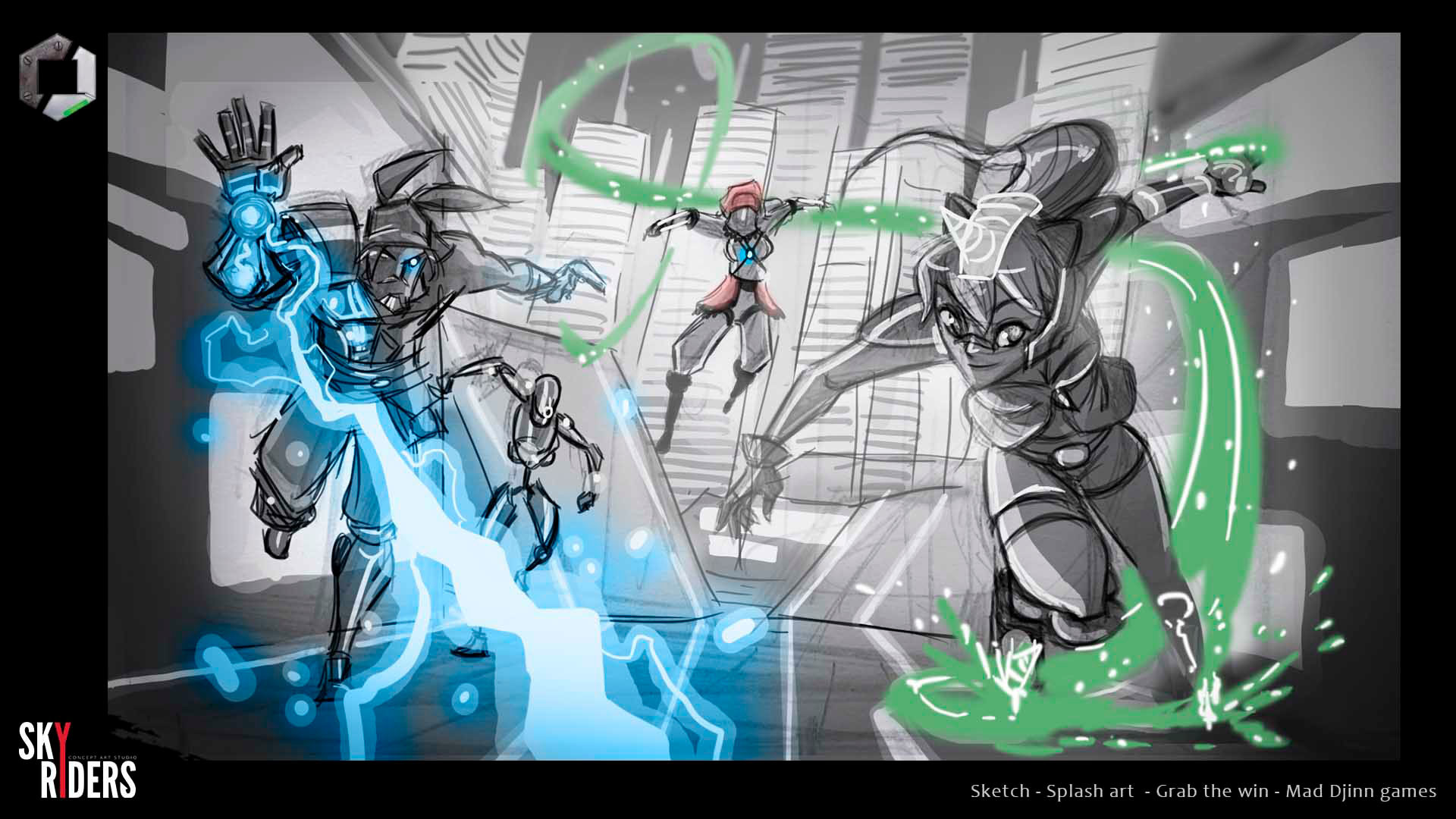 Sky riders grab the win sketches 03