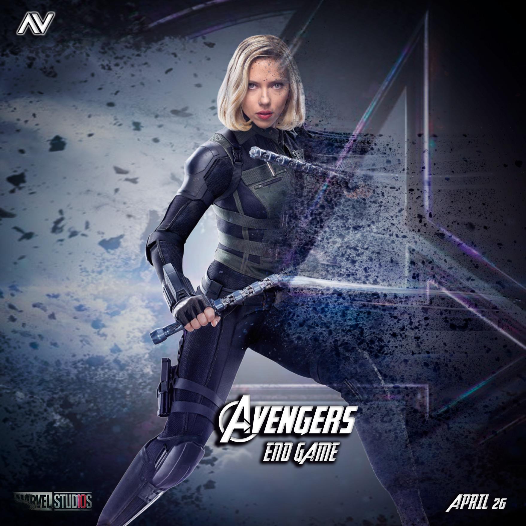 Avengers Endgame Black Widow Hd Wallpaper