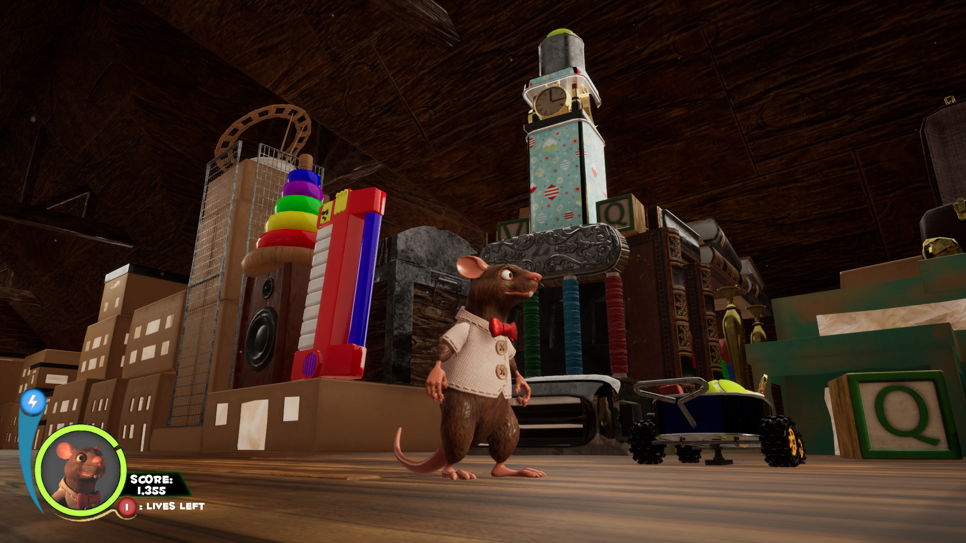 """In game screenshot - Most of the """"buildings,"""" including the boxes, were converted by me."""