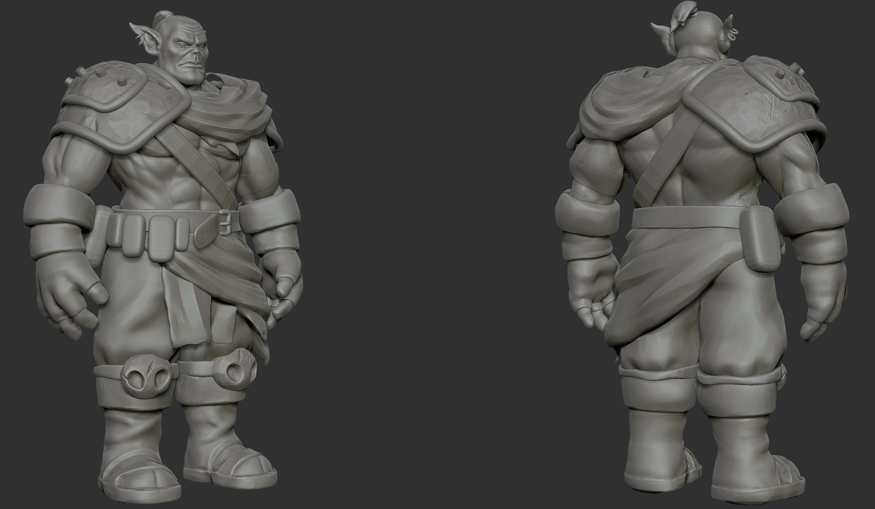 Orc: high poly