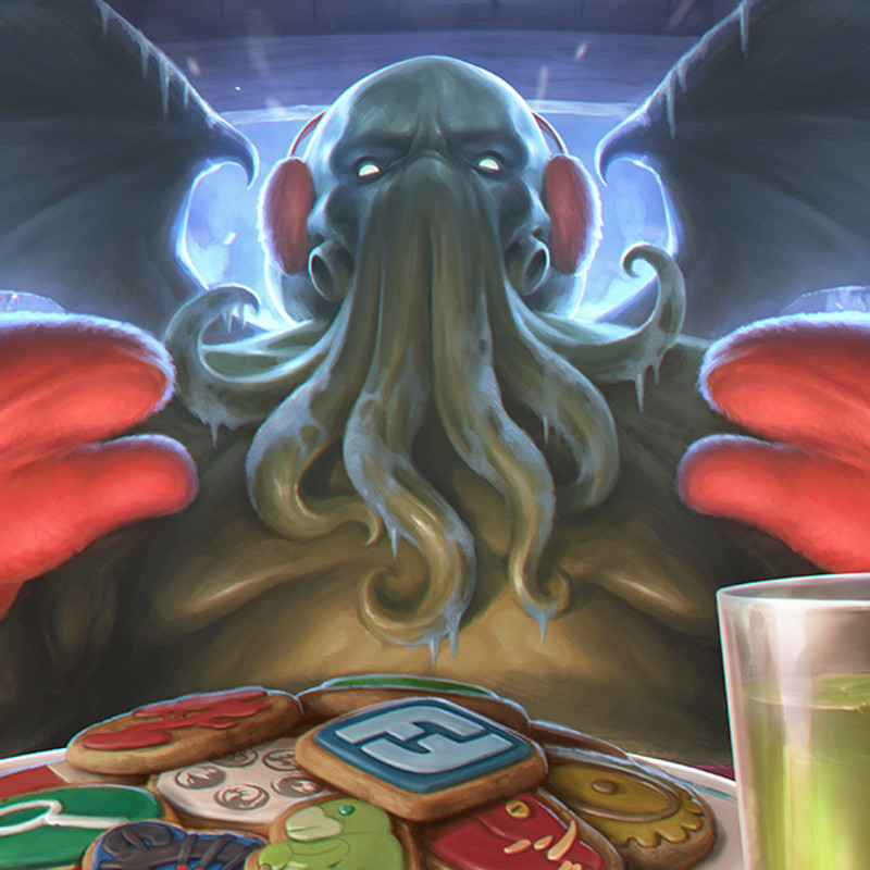 Fantasy Flight Games Holiday Illustrations