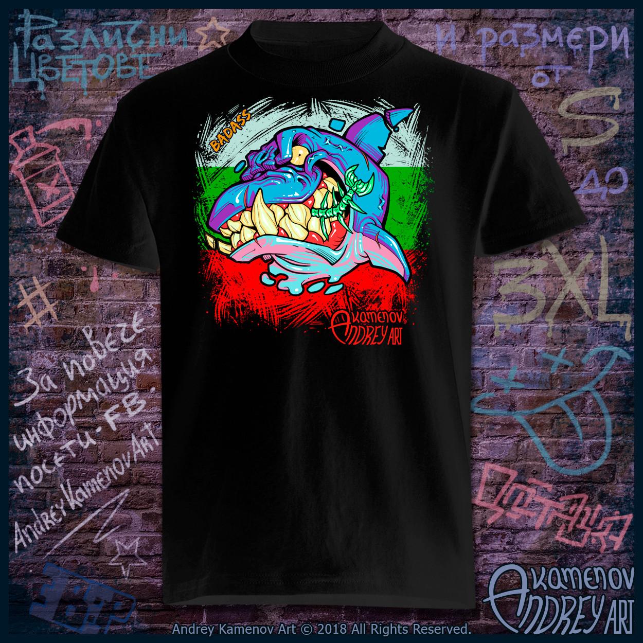 Andrey kamenov badass dolphin t shirt bg 01