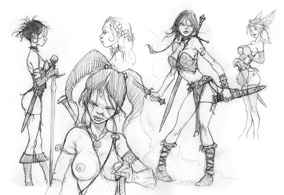 Researches for Female warrior