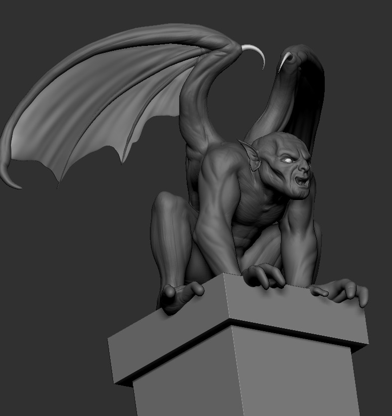Basic forms of the sculpt done.