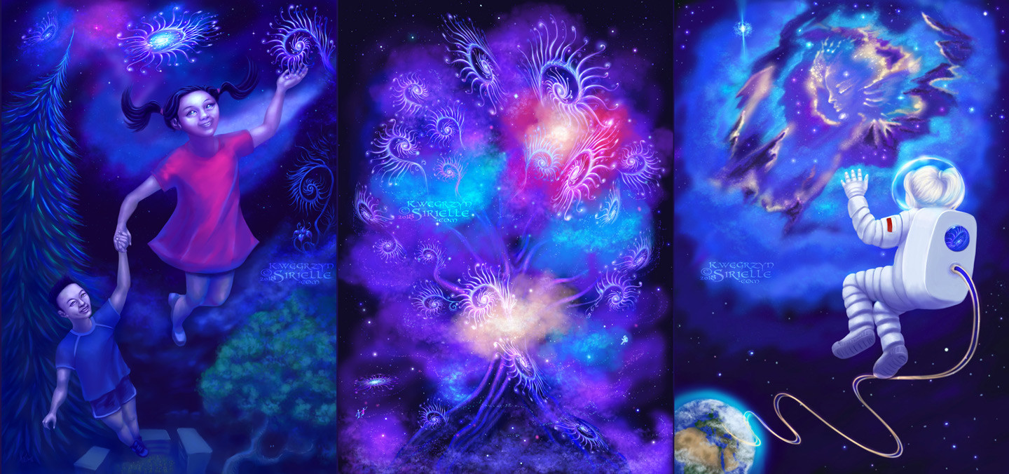 """All the three """"Dreams"""" themed works."""