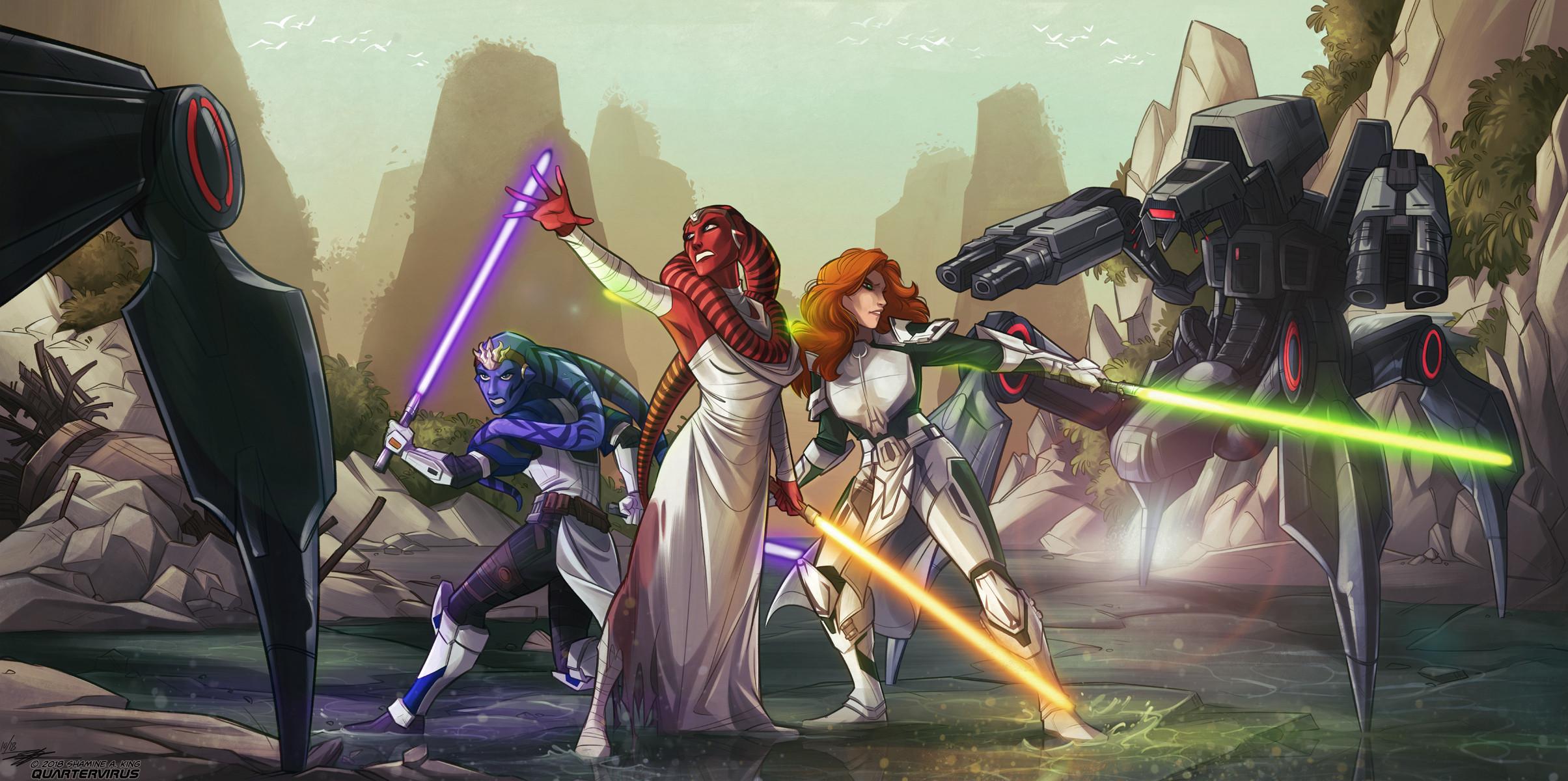 Force Master Ilara and Padawans for Chaney
